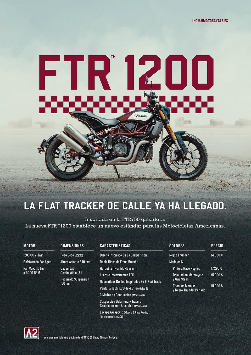 2019 - Tarifa - FTR 1200 S Replica Akrap