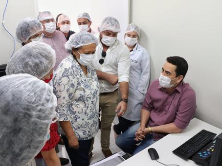 Pref. de Riacho de Santana/RN Dr. Cássio Fernandes participa de inauguração do centro de imagens HR