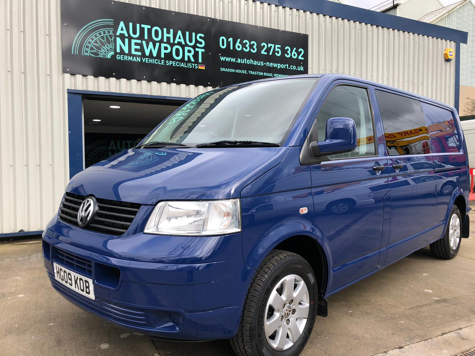 VW T5 KOMBI INDIAN BLUE | VW Camper Conversions Newport