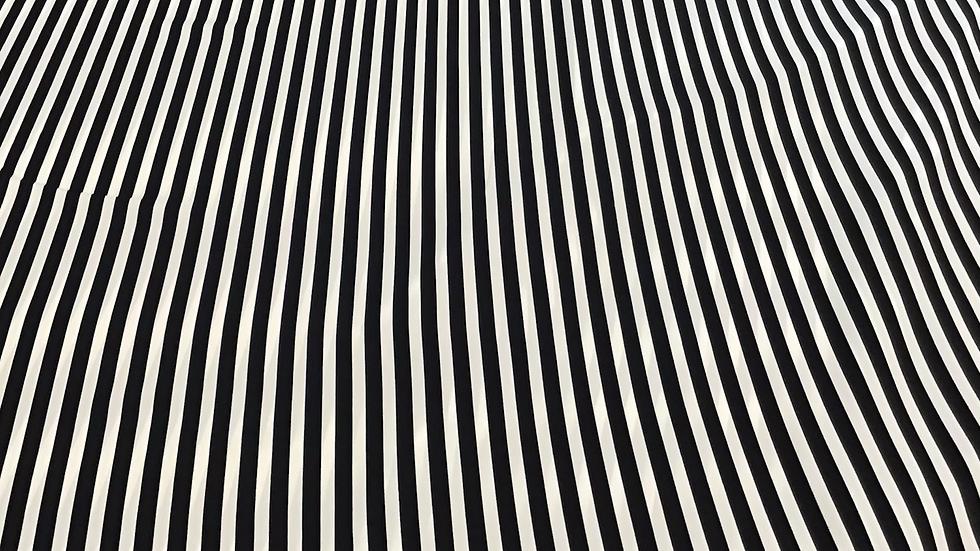 Slinky Black & White Stripe Satin