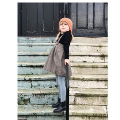Maud in her tweed pinafore