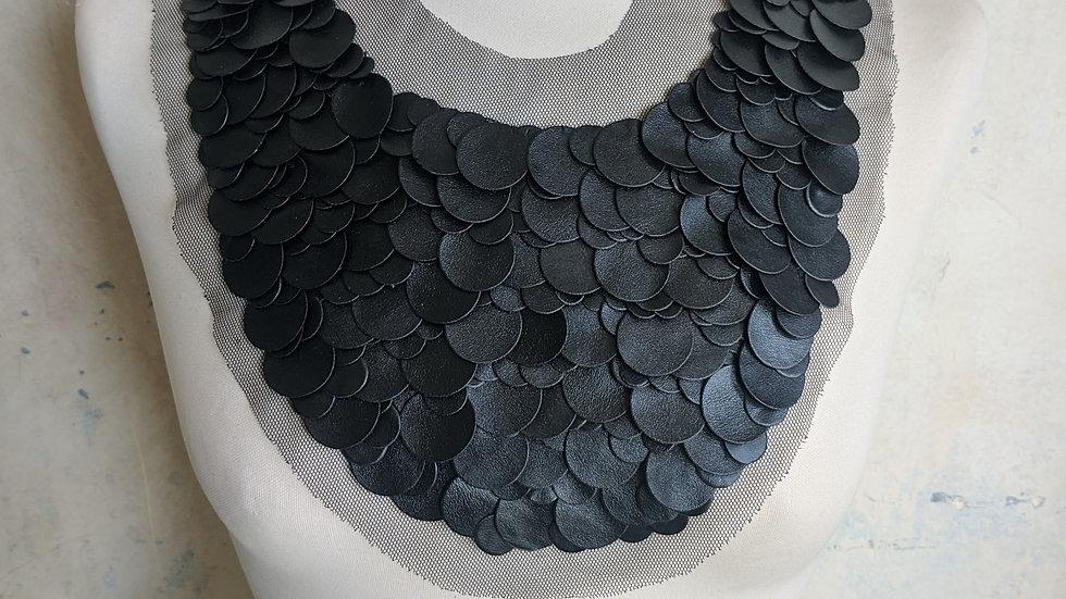 Extra large Black Disc Collar