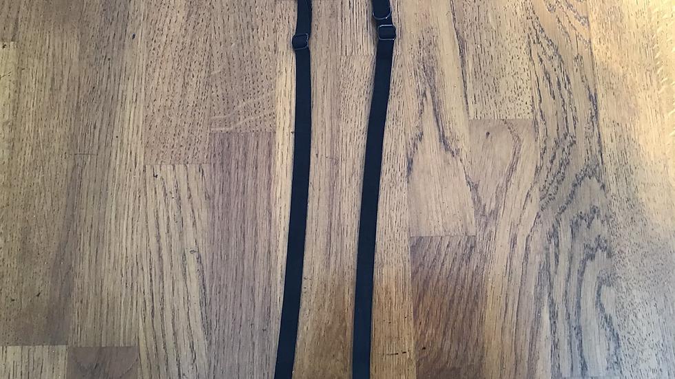 Pair of Black Bra Straps