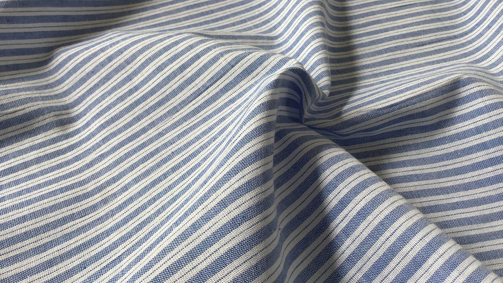 Blue & White Stripe Cotton