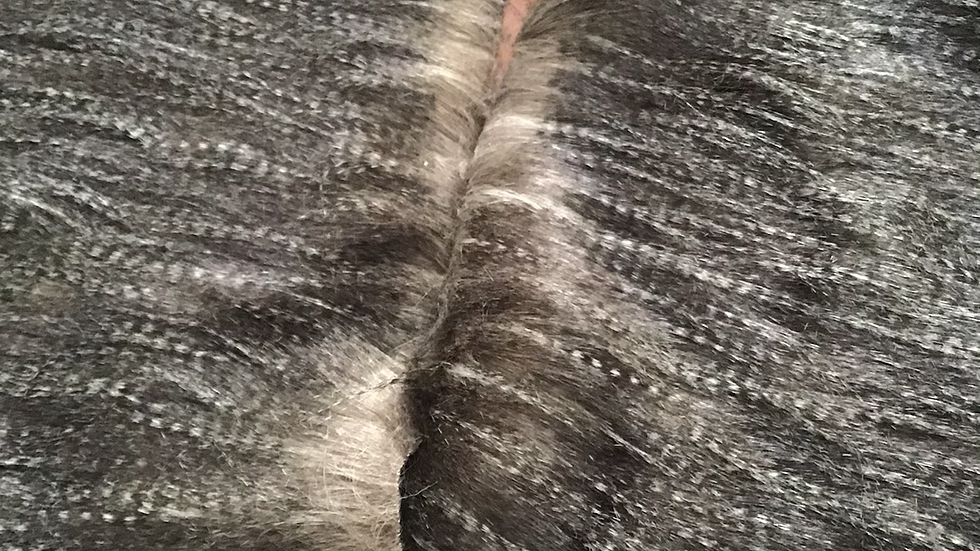 Dark Grey Crimp Faux Fur Piece
