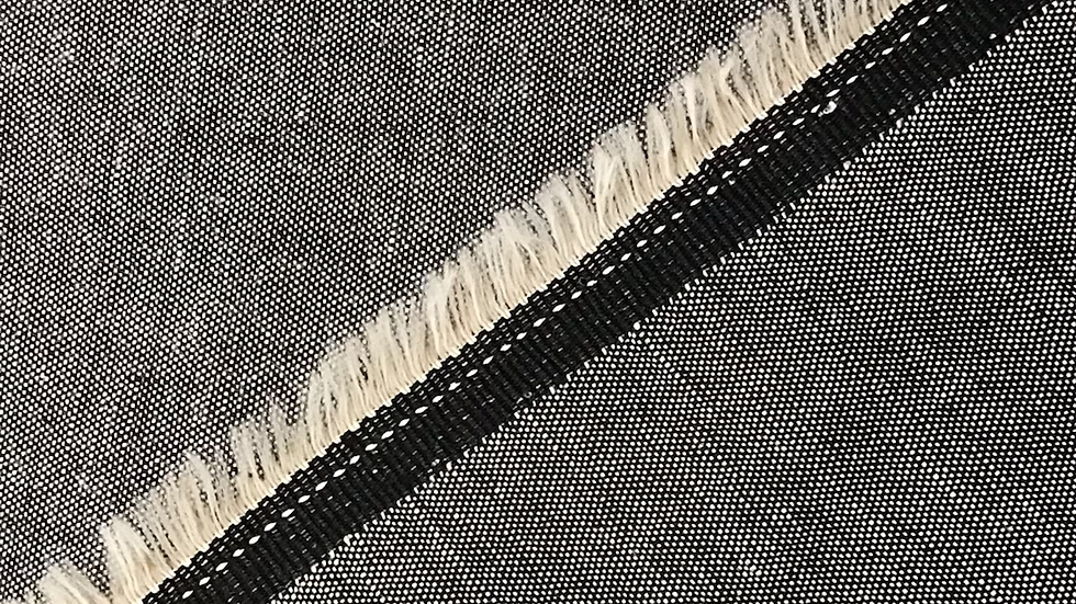 Grey/ Black Chambray