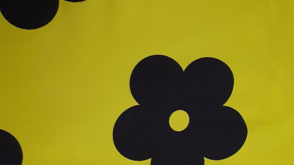 Large Navy Flower Vivid Yellow