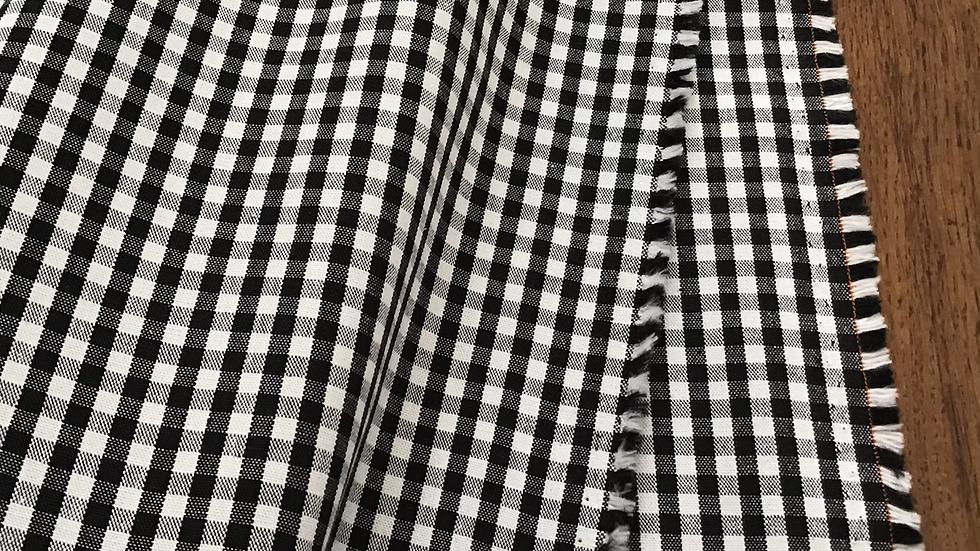 Black & White Check Cotton