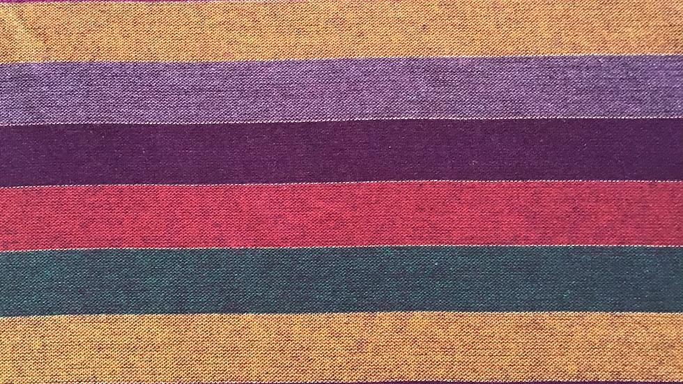 Remnant Multi Coloured Stripe Wool / 100cm