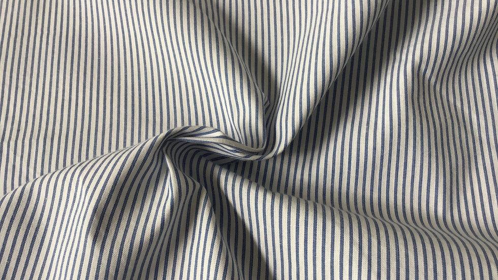 Vintage Style Blue & White Stripe Cotton
