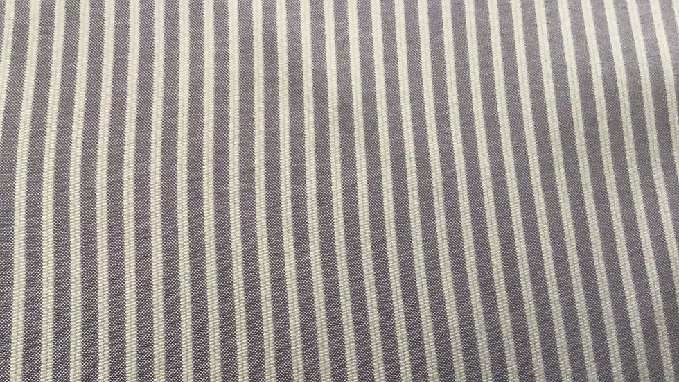 Mauve & White Stripe Cotton