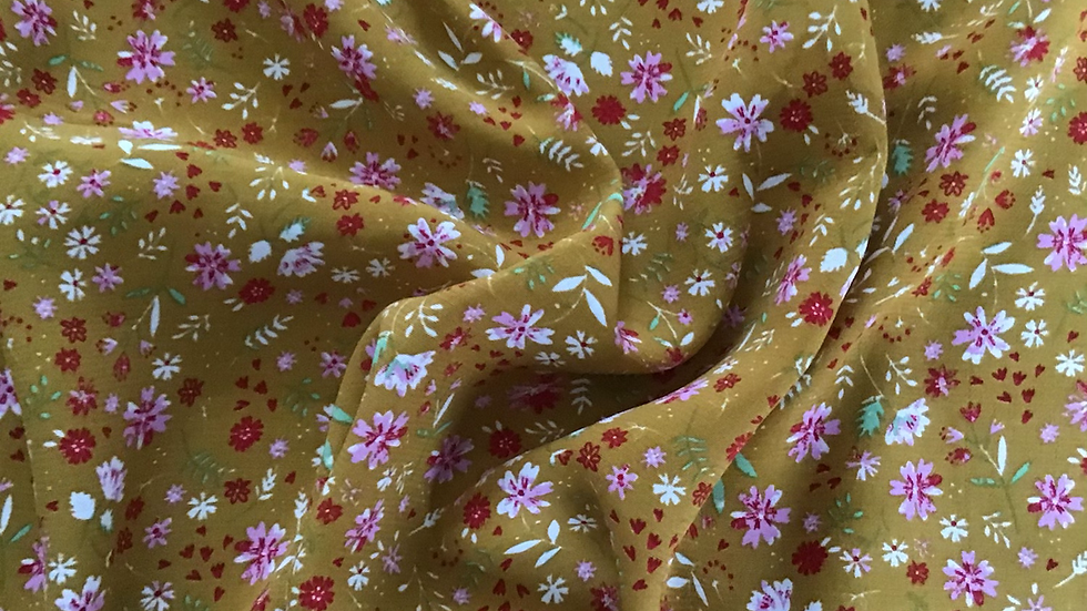 Ditsy Floral on Golden Yellow
