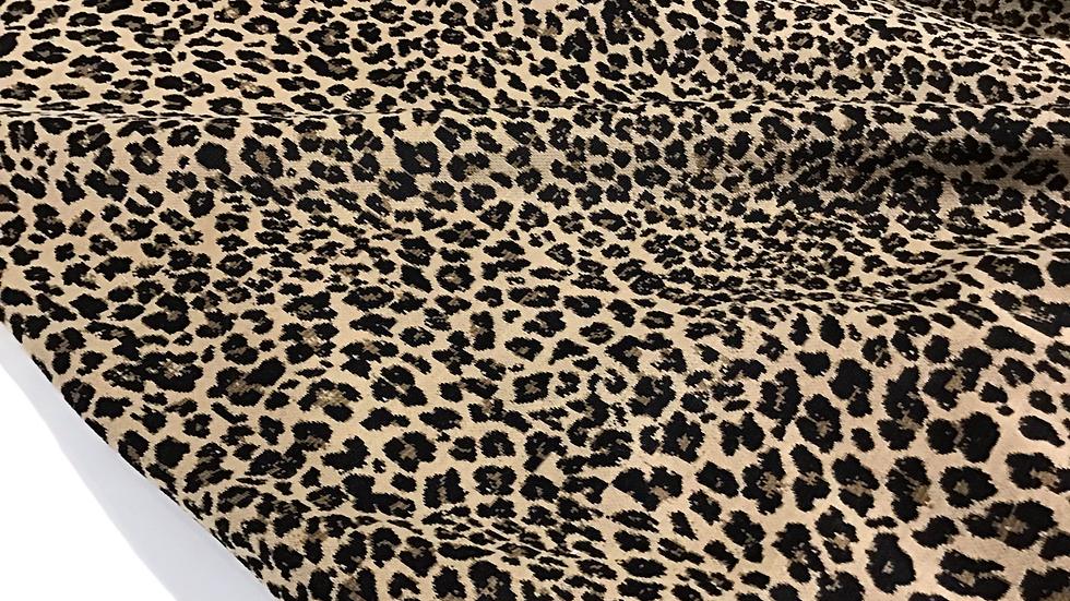Remnant Stella Mini Leopard Knit / 180cm