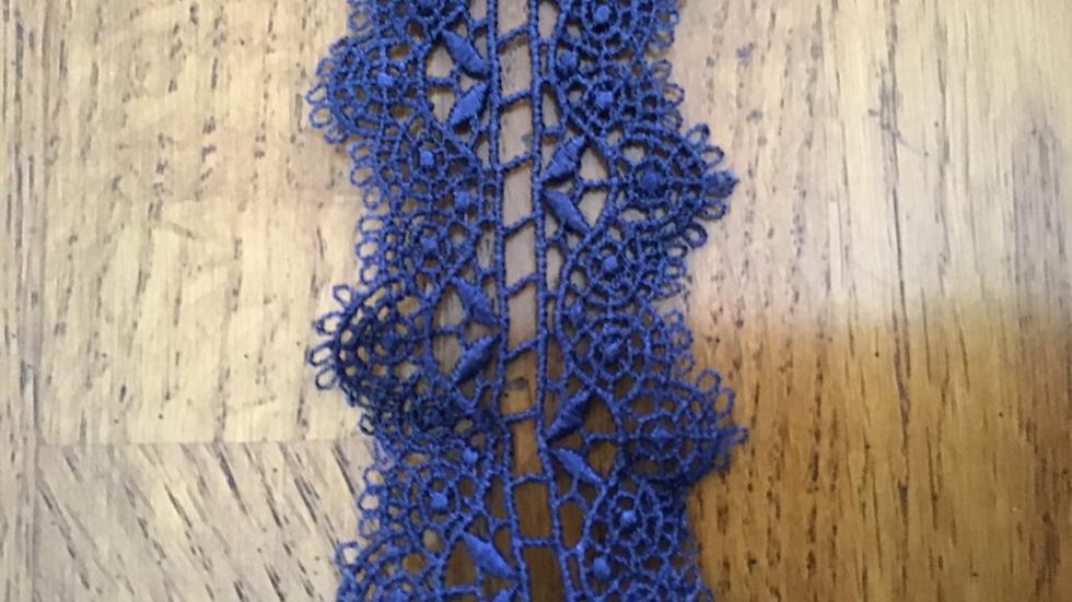 Blue Lace Trim/4cm wide