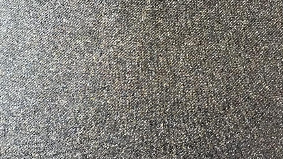 Dark Brown Tweed Twill Wool