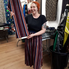 Love this photo of Rae in her plisse pleated skirt