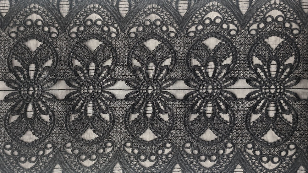 Extra Large Embroidered Victorian Style Lace Trim