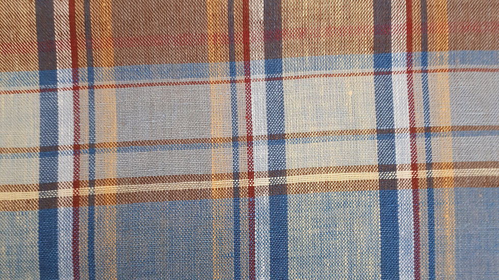 Madras check linen