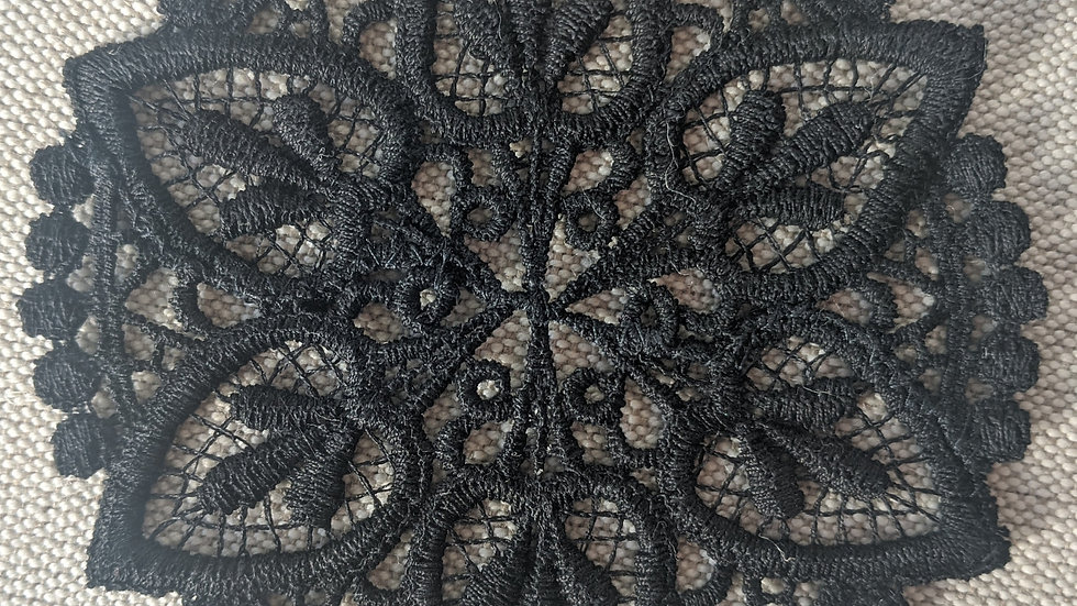 Round Black Lace Embellishment