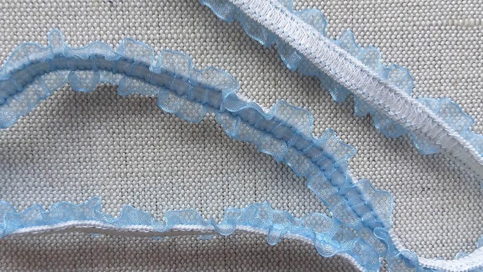 Baby Blue Elastic Frill