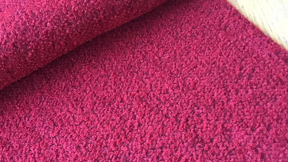 Deep Red Bouclé