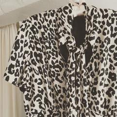 Tara's dreamy snow leopard maxi dress