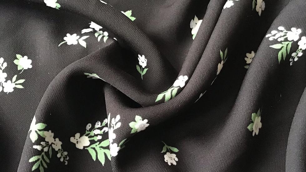 Remnant Delicate Black Floral  /280cm