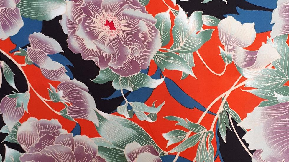 Japonaise Style Large Floral Viscose