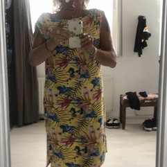 Marie Josie snapped up a remnant and made this tropical summer dress!