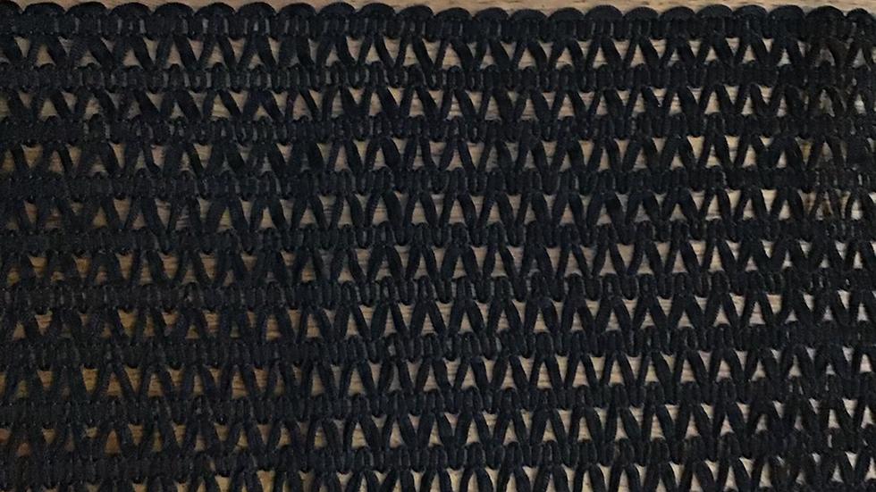 Extra Wide Black Pattern Weave Trim/17cm wide