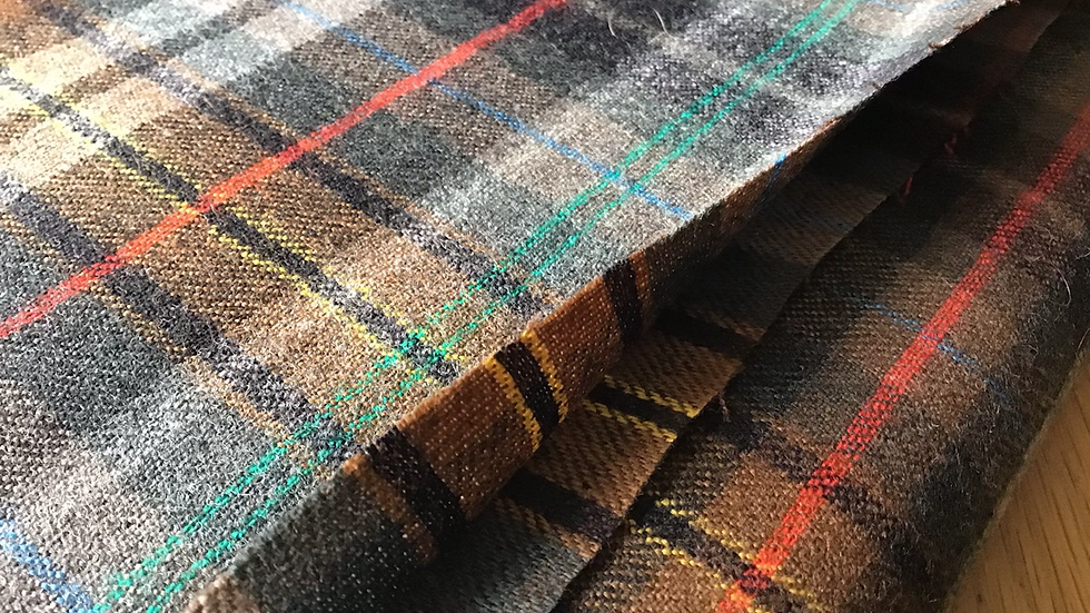 Plaid Checks Wool - Grey