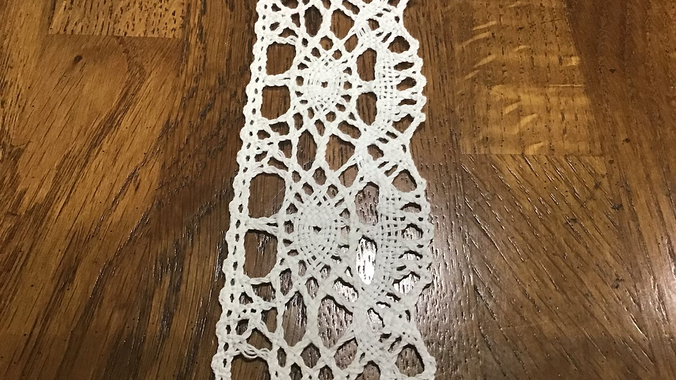 Off White Cotton Style Crochet Trim/5cm wide