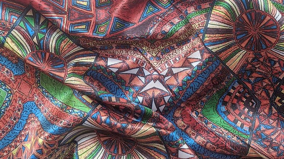 Kaleidoscope Print Satin