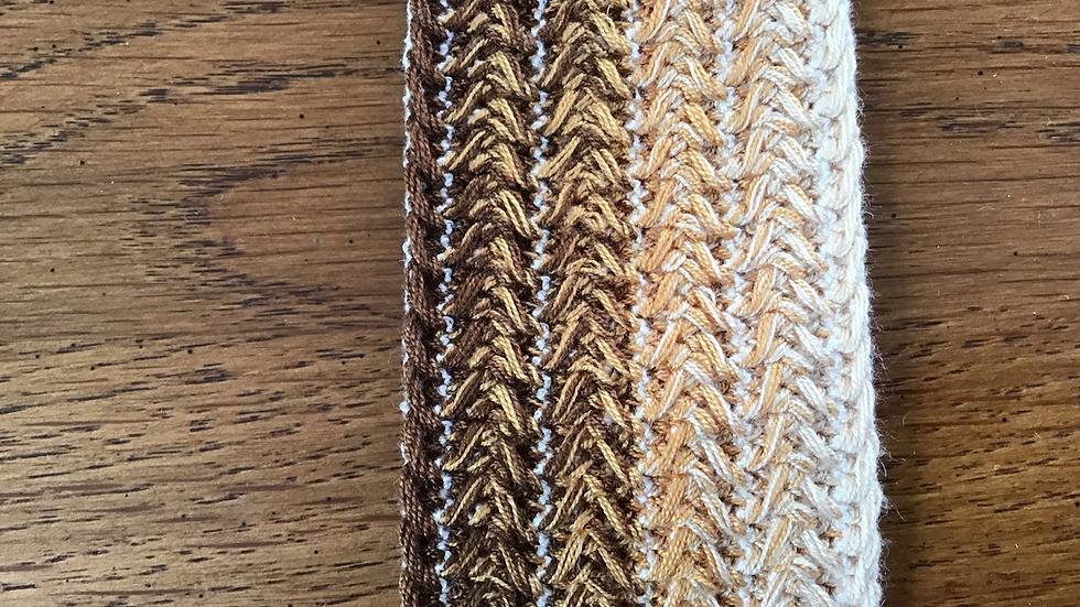 Knit Weave Browns Ombre Stripe