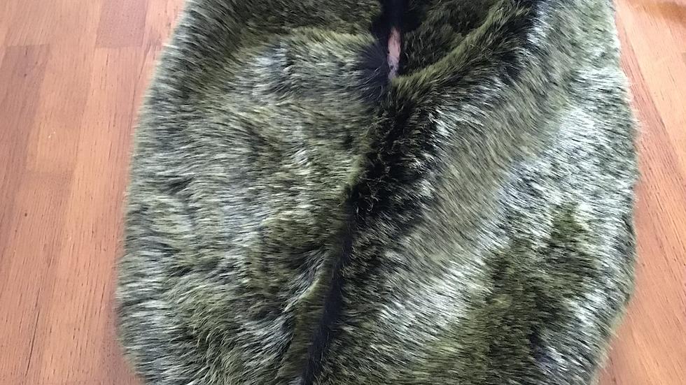 Green Faux Fur Piece