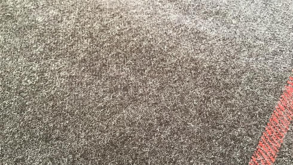 Vintage Haul Remnant Taupe Brown Wool /190cm