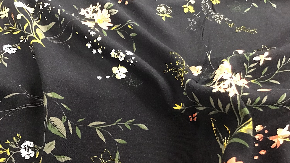 Sylvie - Peach & Black Floral