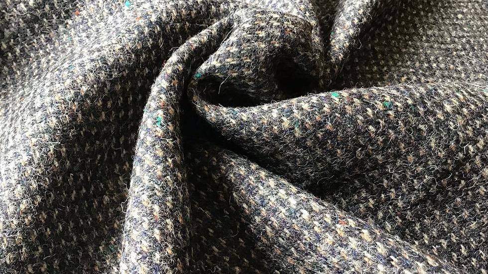Deep Grey with  Green, Orange Flecks Wool