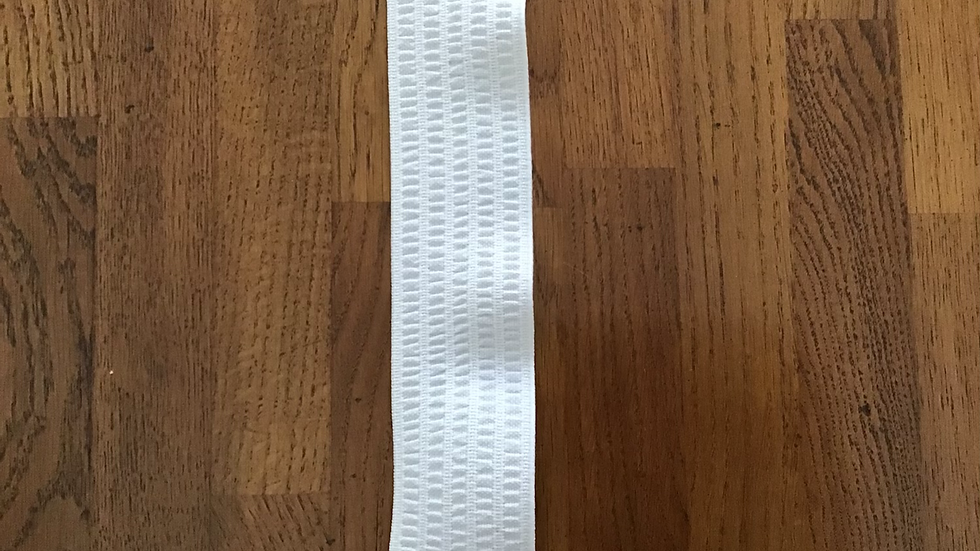 Extra Wide White Elastic/ 5cm wide