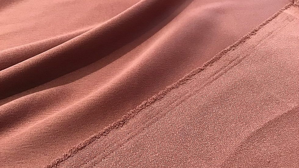 Dark Dusty Pink - Satin Backed Crepe