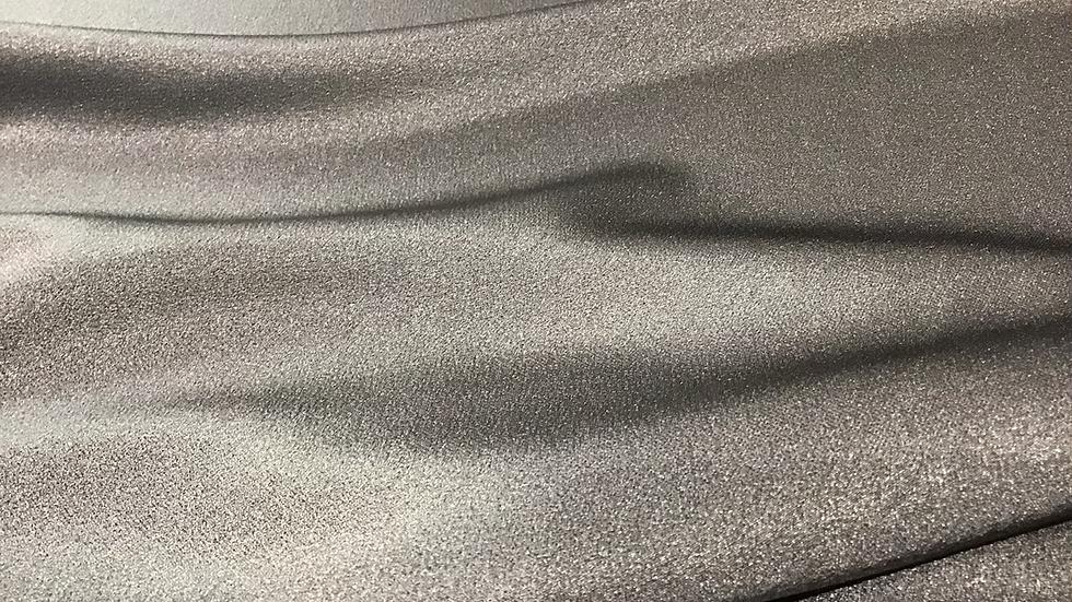 Steel Grey - Satin Crepe