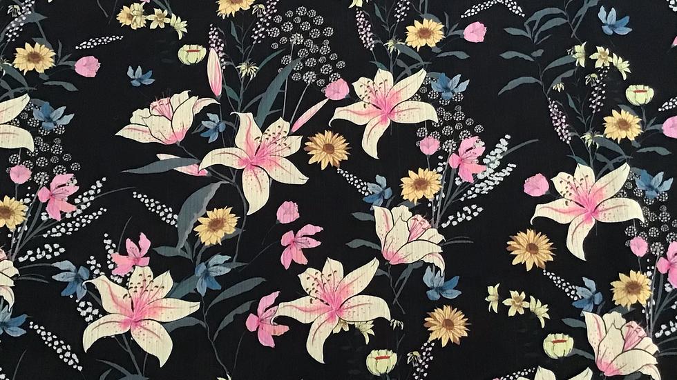 Katie - Floral Satin