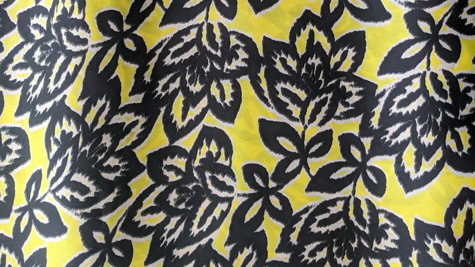 Stamp Floral Yellow/Black