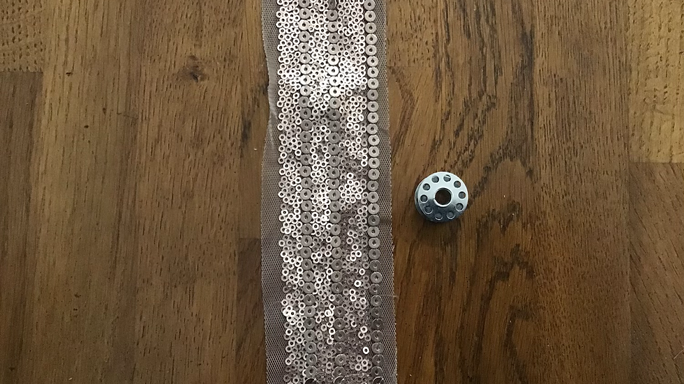 Sequins on Tulle/6cm wide