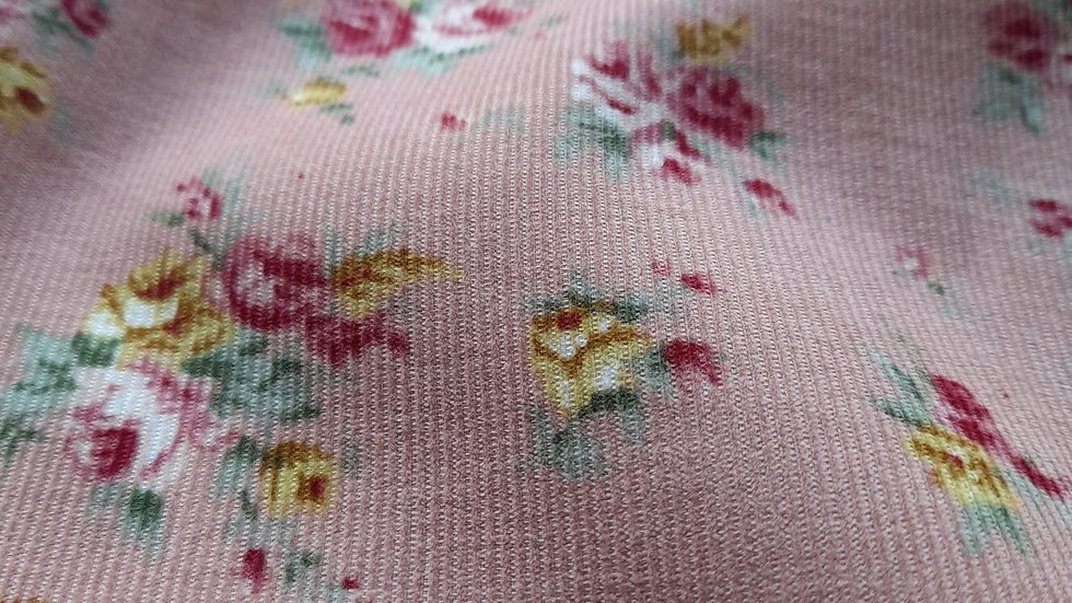 Baby Cord Pink Floral Corduroy