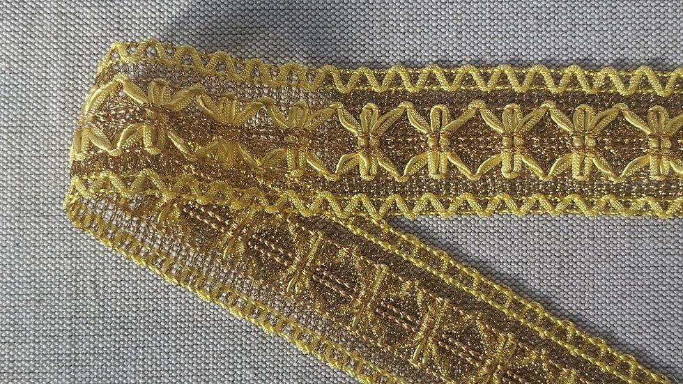 Yellow lurex braid