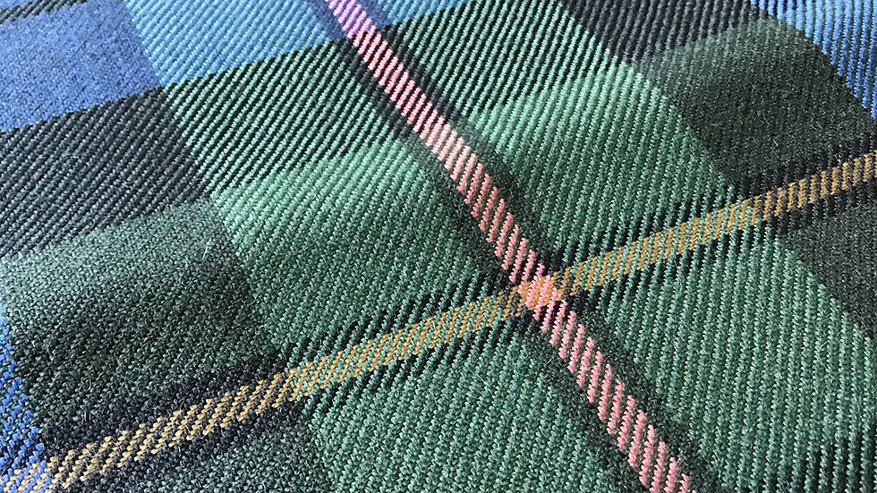 Blues Greens Check Plaid Wool