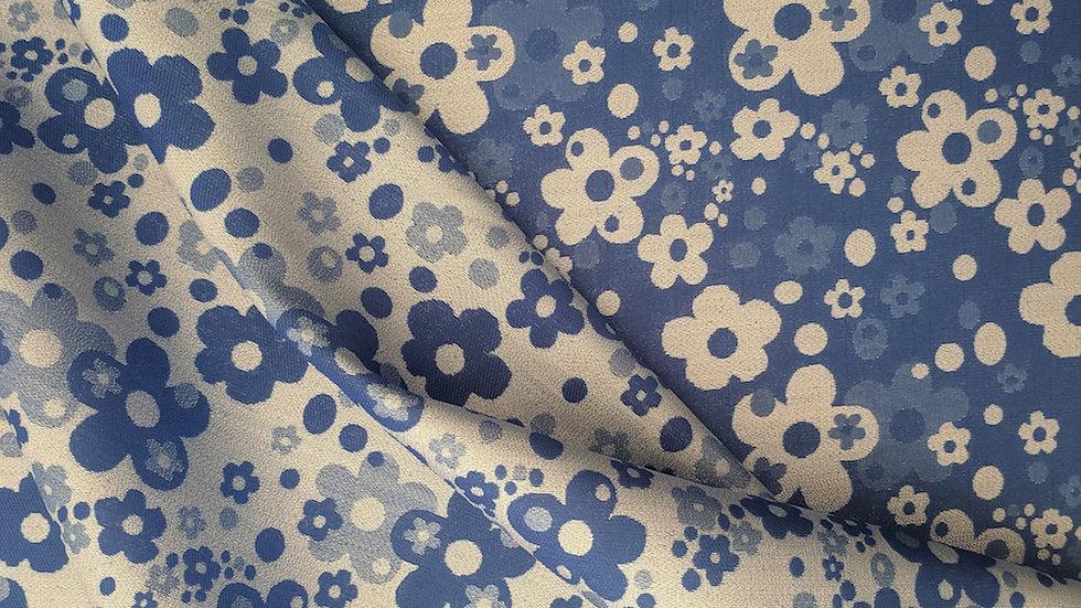 Blue & Silver 'Alice' Jacquard