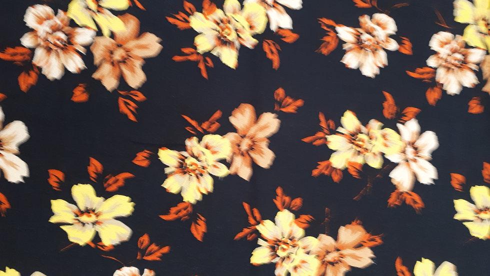 Autumnal Floral on Black