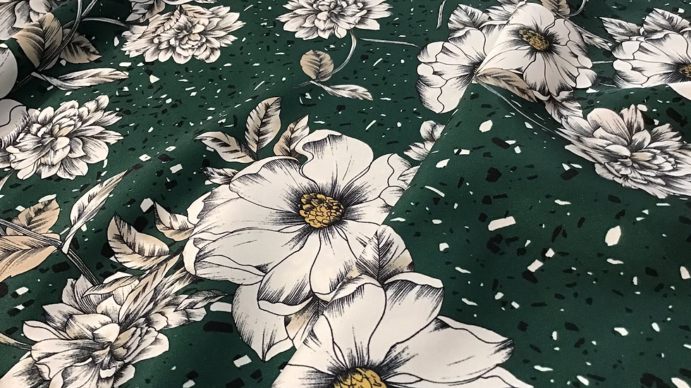 Remnant Phoebe Chinoiserie Floral Satin/200cm